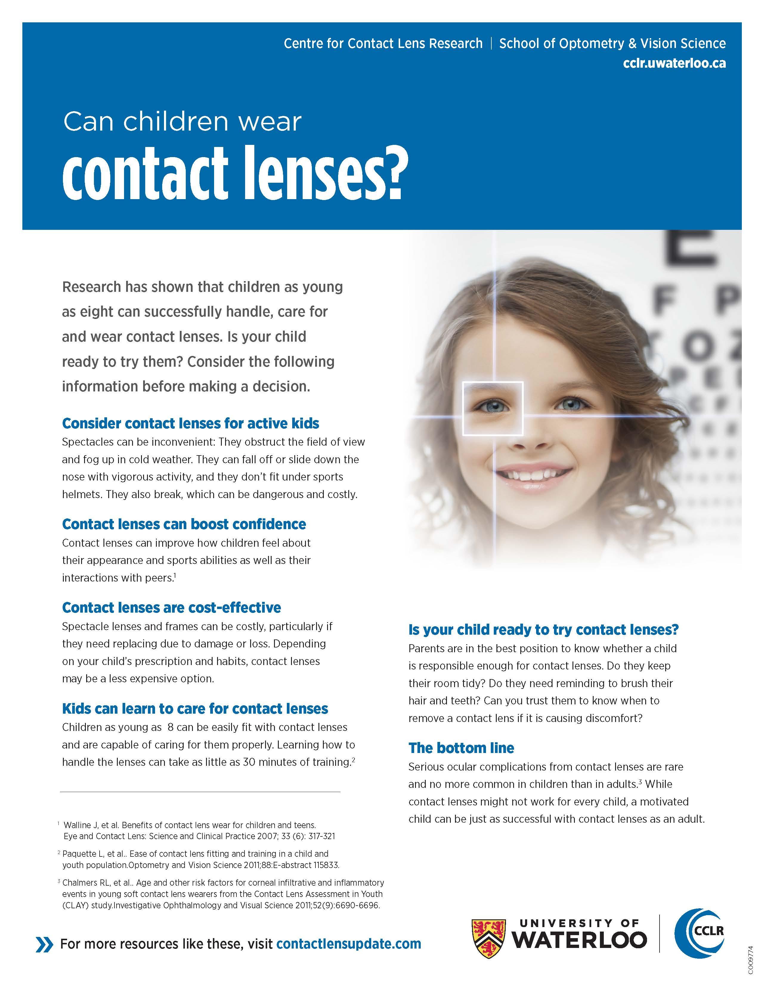 ContactLensUpdate.com - Patient handout - Kids & Contact Lenses